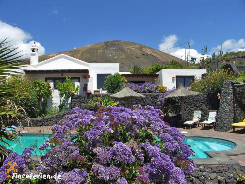 Finca lanzarote ferienhaus mit meerblick und pool for Finca mit pool