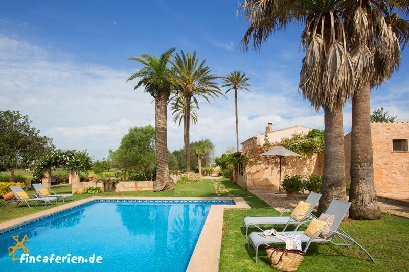 Apartments mit pool auf typisch mallorquiner finca bei - Gartenanlage mit pool ...