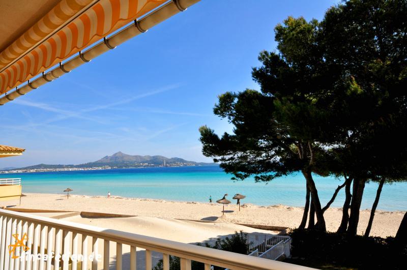 strandurlaub mallorca ferienwohnung f r 6 personen am strand von alcudia fincaferien. Black Bedroom Furniture Sets. Home Design Ideas