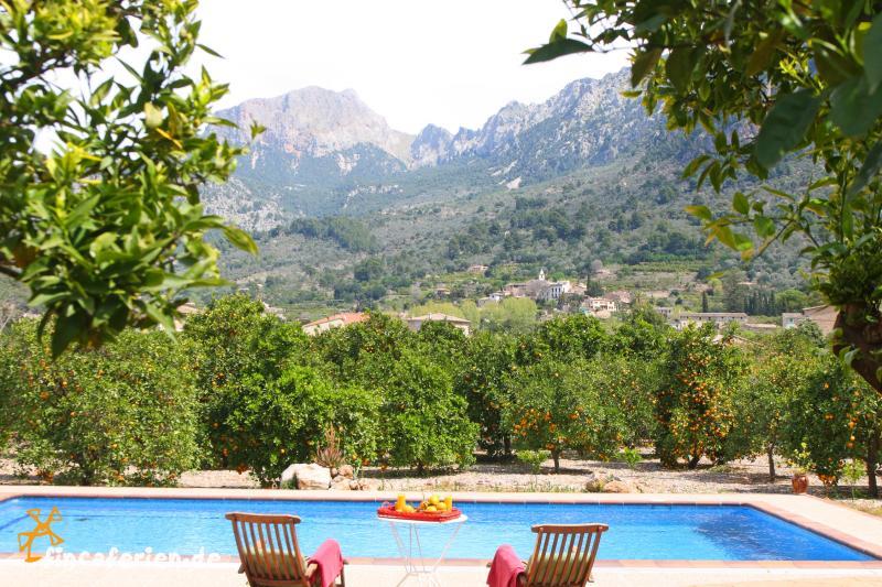 mallorca familienurlaub finca mit pool bei soller fincaferien. Black Bedroom Furniture Sets. Home Design Ideas