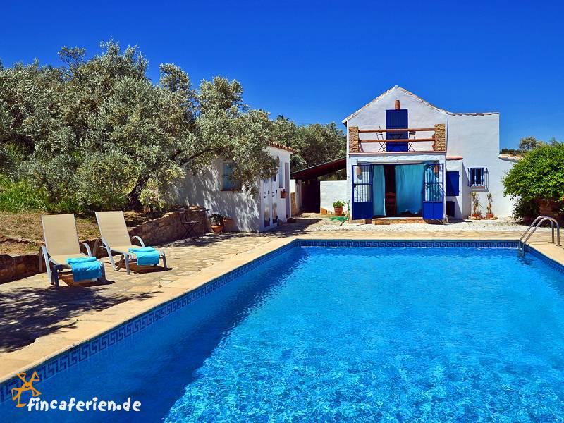 Urlaub andalusien finca mit pool bei ronda fincaferien for Finca mit pool