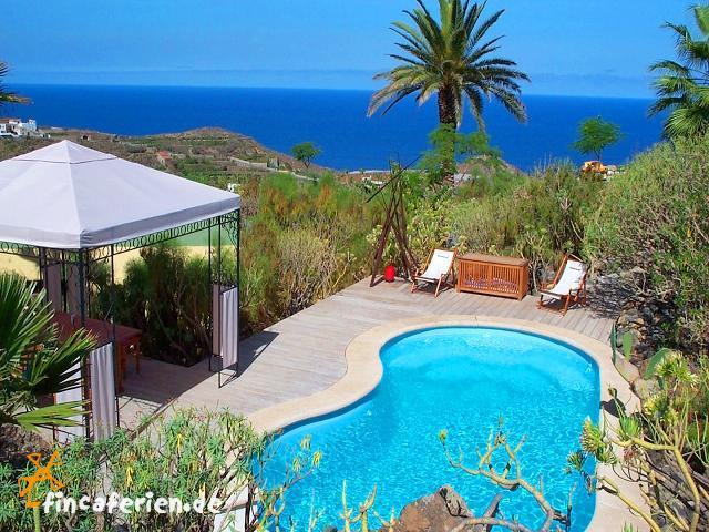 teneriffa ferienhaus mit meerblick & pool urlaub mit hund, Garten ideen
