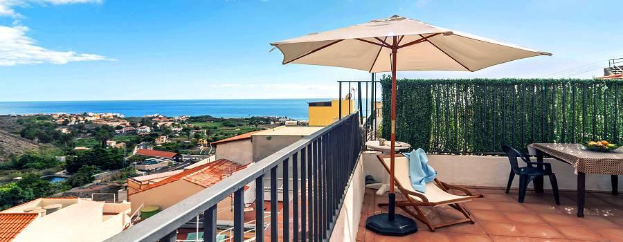 Strandnahes Ferienhaus mit Meerblick in La Calera (Valle Gran Rey)