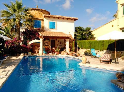Mallorca Ferienhaus mit Pool in Cala Santanyi  (Nr. 0201)