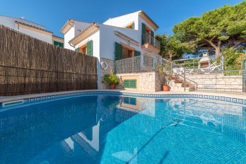 Strandnahes Ferienhaus mit Pool (kindersicher eingezäunt) in Portocolom (Nr. 3010)