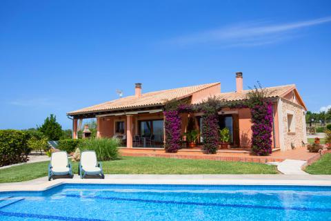 Mallorca Ferienhaus mit Pool und Klimaanlage, strandnah, Can Picafort (Nr. 3105)