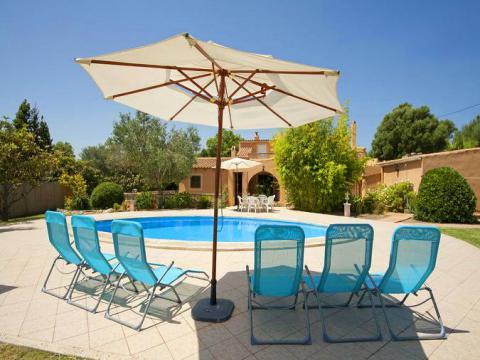 Strandnahes Ferienhaus Mallorca mit Pool. Urlaub mit Hund! (Nr. 0426)