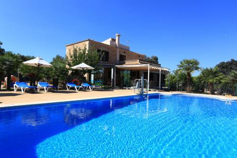 Famlienurlaub - strandnahe Finca mit Pool bei Can Picafort       (Nr. 0430)