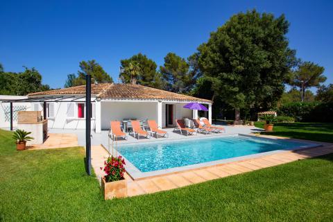 Sa Pobla: Ferienhaus mit privatem Pool, Klimaanlage und Internet (Nr. 0614)