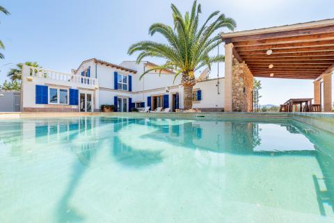 Mallorca Ferienhaus für 10 Personen mit Pool, Klimaanlage und Internet (Nr. 0623)