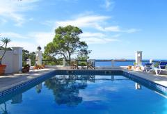 Ferienhaus mit Pool und tollem Meerblick - Cala Moli  (Nr. 0058)