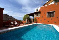 Ferienhaus mit Pool und tollem Blick auf Agaete (Nr. 0913)