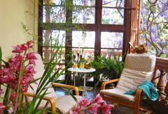 Ferienhaus mit schönem Garten und Heizung - Santa Brigida (Nr. 0917)