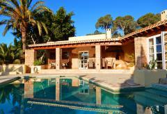 Klimatisierte Villa mit Pool und Internetanschluss nahe Sant Josep  (Nr. 0155)
