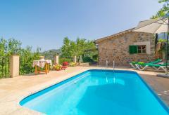 Kleines Ferienhaus mit Pool am Ortsrand von Soller (Nr. 0202)