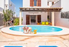 Strandnahes Ferienhaus mit Pool und Klimaanlage in Cala d'Or (Nr. 3046)