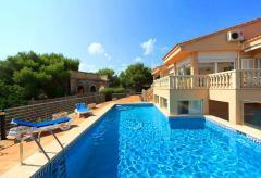 Klimatisierte Villa mit Pool am Strand von Cala Marçal (Nr. 3115)