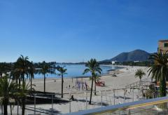 Strandnahes Apartment mit Meerblick und Klimaanlage in Puerto Alcudia (Nr. 0643.2)