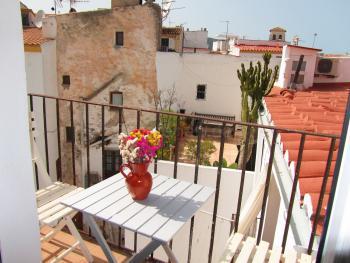 Balkonblick vom Ferienhaus in Ibiza-Stadt