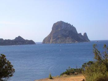 Cala d'Hort - Blick auf Es Vedra