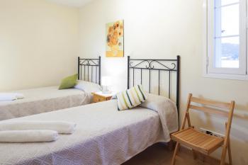 Schlafzimmer  im Ferienhaus für 8 Personen