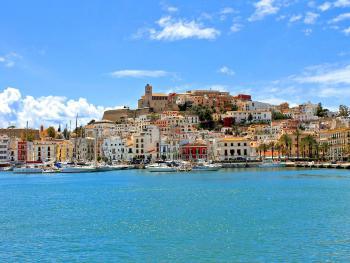 Blick auf Ibiza-Stadt - Altstadt