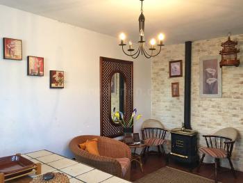 Wohnküche mit Kaminofen