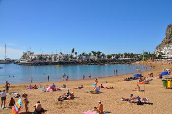 Strand in Puerto Mogan