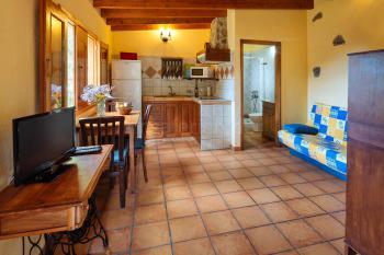 Essplatz, Sofa und offene Küche
