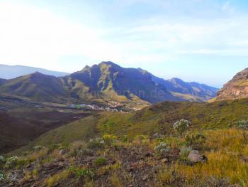 Blick auf das Dorf Tasarte