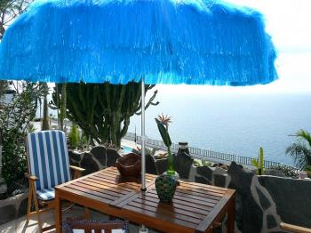 Terrasse vom Studio B mit Meerblick