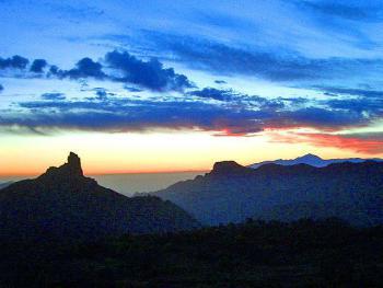 Sonnenuntergang Roque Nublo