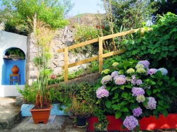 Ferienhaus mit Innenhof und Garten