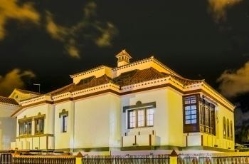 Abendstimmung von Villa....
