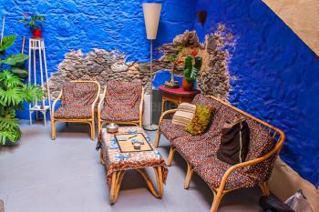 Kanarischer Patio mit Sitzecke