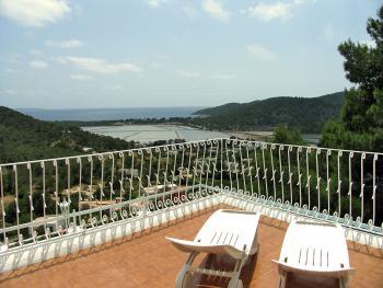 Terrasse mit Meerblick - große Ferienwohnung