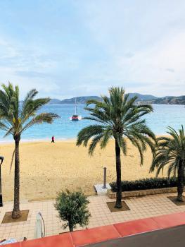 am Strand der Cala Vicente