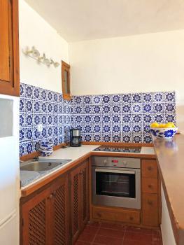 Offene Küche mit Ceranfeld