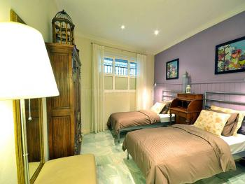 Schlafzimmer mit Bad en Suite