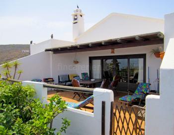 Ferienhaus - große Terrasse