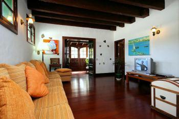 Lounge in der oberen Etage