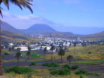 Blick über Haria im Norden von Lanzarote