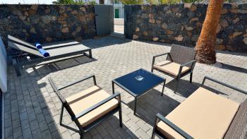 Relaxen im Urlaub - private Terrasse