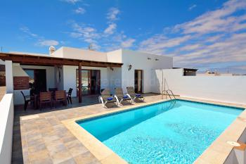 Ferienhaus mit Pool in Playa Blanca