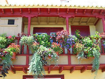 Berühmtes Balkonhaus in Santa Cruz
