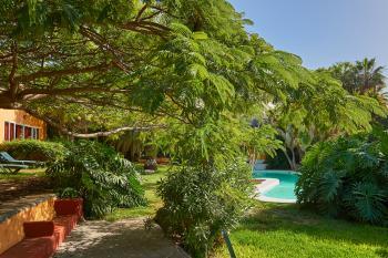 Großer Garten mit Pool