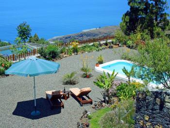 Wandern auf La Palma - Landhaus mit Meerblick