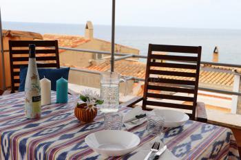 Ideal zum Relaxen - Dachterrasse mit Meerblick