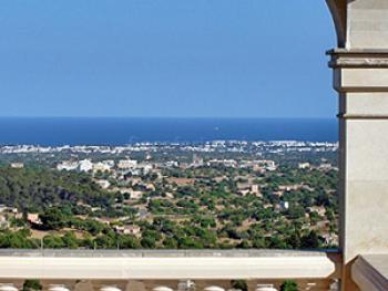 Aussicht über Mallorca bis zum Mittelmeer