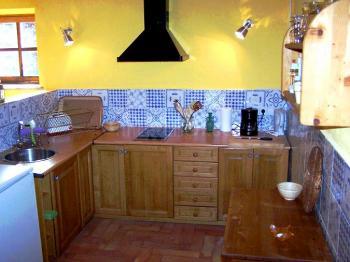 Kleine, offene Küche